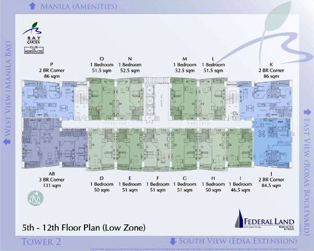 Garden By The Bay Floor Plan bay garden club and residences - garden living in manila bay